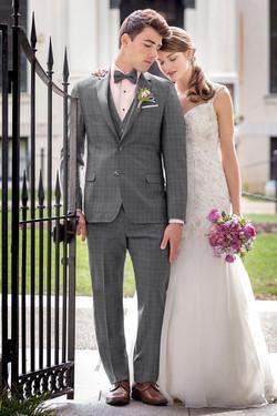 Ike Behar Hamilton Plaid Suit