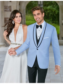 Ike Behar Powder Blue Valencia Tuxedo