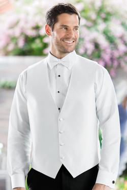 Herringbone White Vest