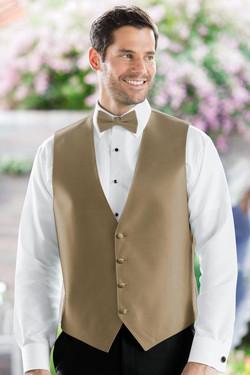Herringbone Gold Vest