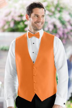 Herringbone Tangerine Vest