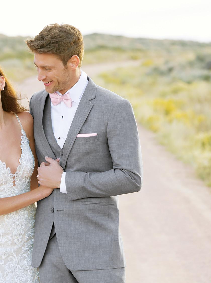 Heather grey clayton allure suit groom rental style ultra slim fit Phoenix Arizona
