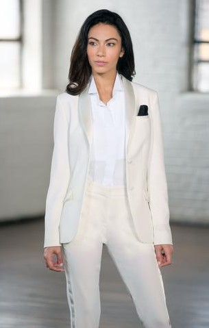 Diamond White Shawl Tuxedo Jacket
