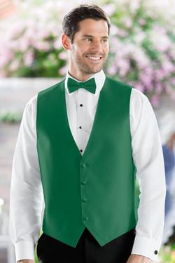 Herringbone Emarld Green Vest