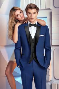 Cobalt blue tuxedo ike behar skinny slim fit phoenix tux rental suit