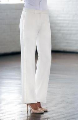 Diamond White Wide Tuxedo Pants