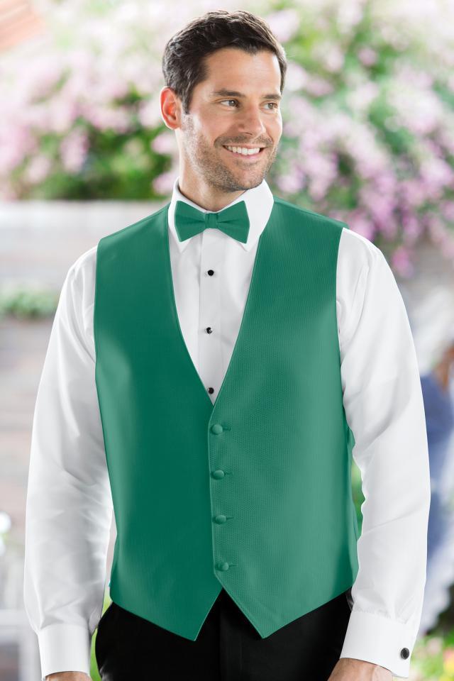 Herringbone Jade Vest