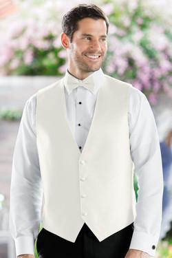Herringbone Ivory Vest