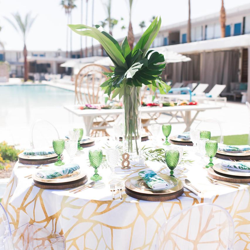 Tablescape   Green goblets   Wedding Inspiration