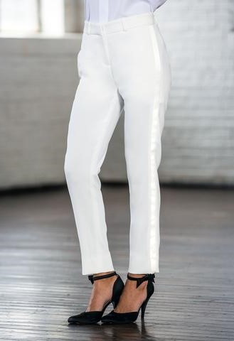 Diamond White Ultra-Slim Tuxedo Pants