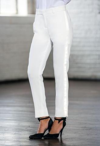 Diamond White Ultra-Slim Tuxedo Pants