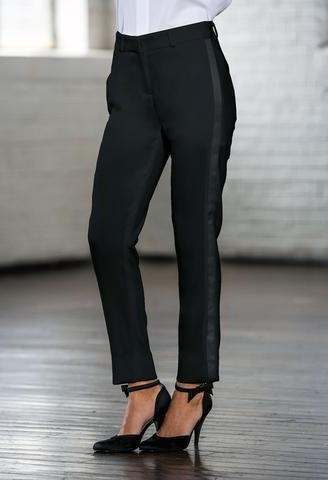 Black Ultra-Slim Tuxedo Pants