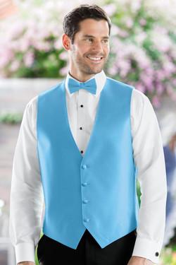 Herringbone Blue Ice Vest