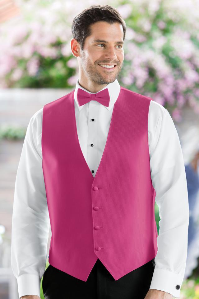 Herringbone Fuschia Vest