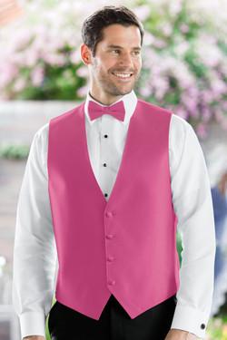Herringbone Bright Fuschia Vest