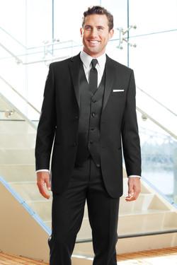 Black Two Button Notch Tuxedo
