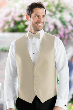 Herringbone Champagne Vest