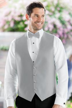 Herringbone Silver Vest