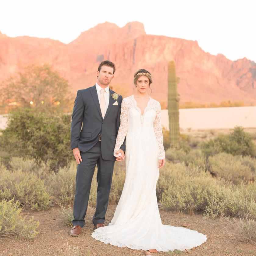 Desert Wedding | Arizona | Superstition Mountains | Celebrity Tux and Tails