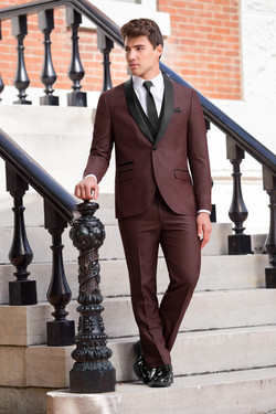 Burgundy Shawl Two-tone Tuxedo