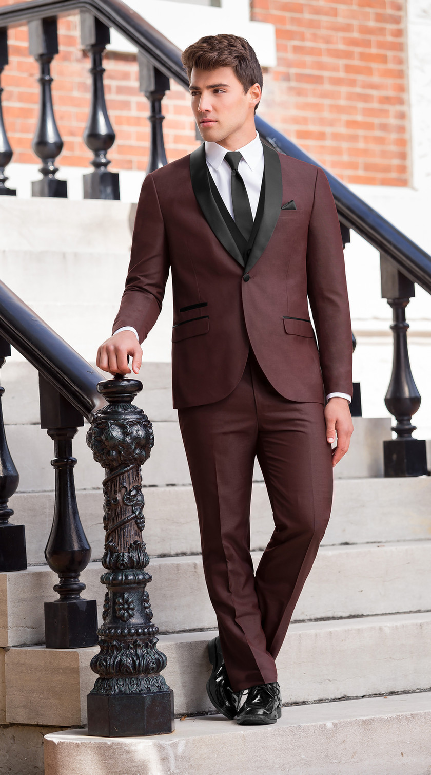 Burgundy tuxedo tux suit purchase retail red black tie holiday Phoenix Arizona Scottsdale Tempe Glendale Peoria