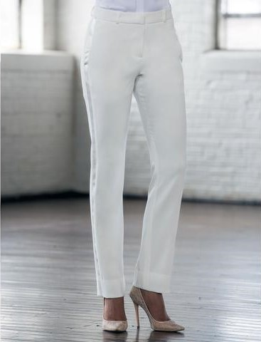 Diamond White Slim Tuxedo Pants