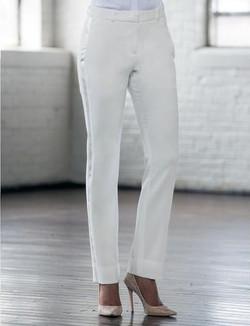 Diamond White Slim Tuxedo Pants