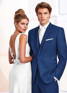 Cobalt blue tuxedo tux rental purchase suit sales groom wedding groomsman