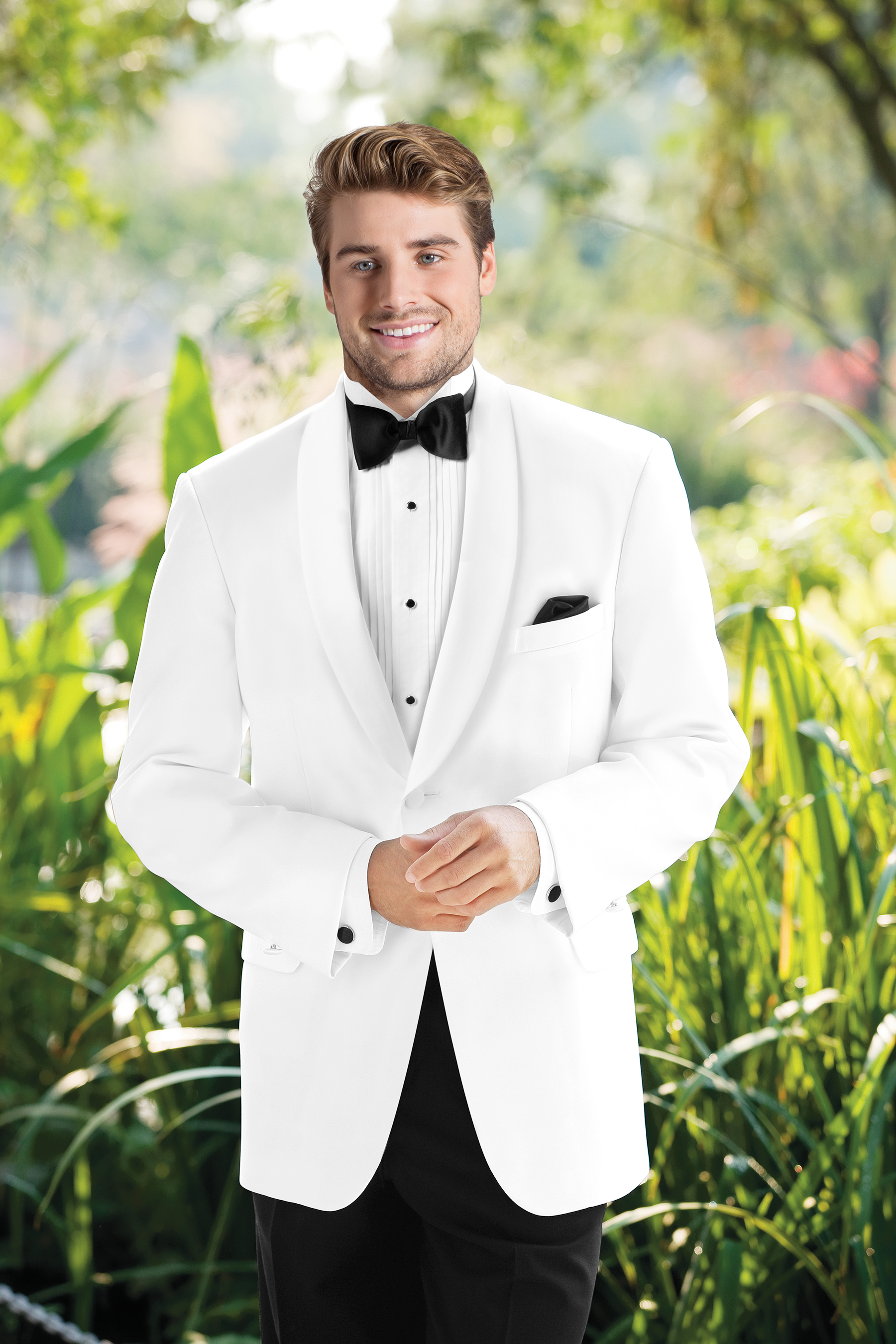 White One Button Dinner Jacket