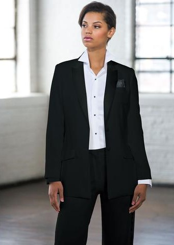 Black Peak Long Tuxedo Jacket
