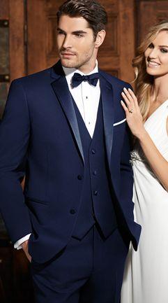 Navy Sebastian Tuxedo by Ike Behar