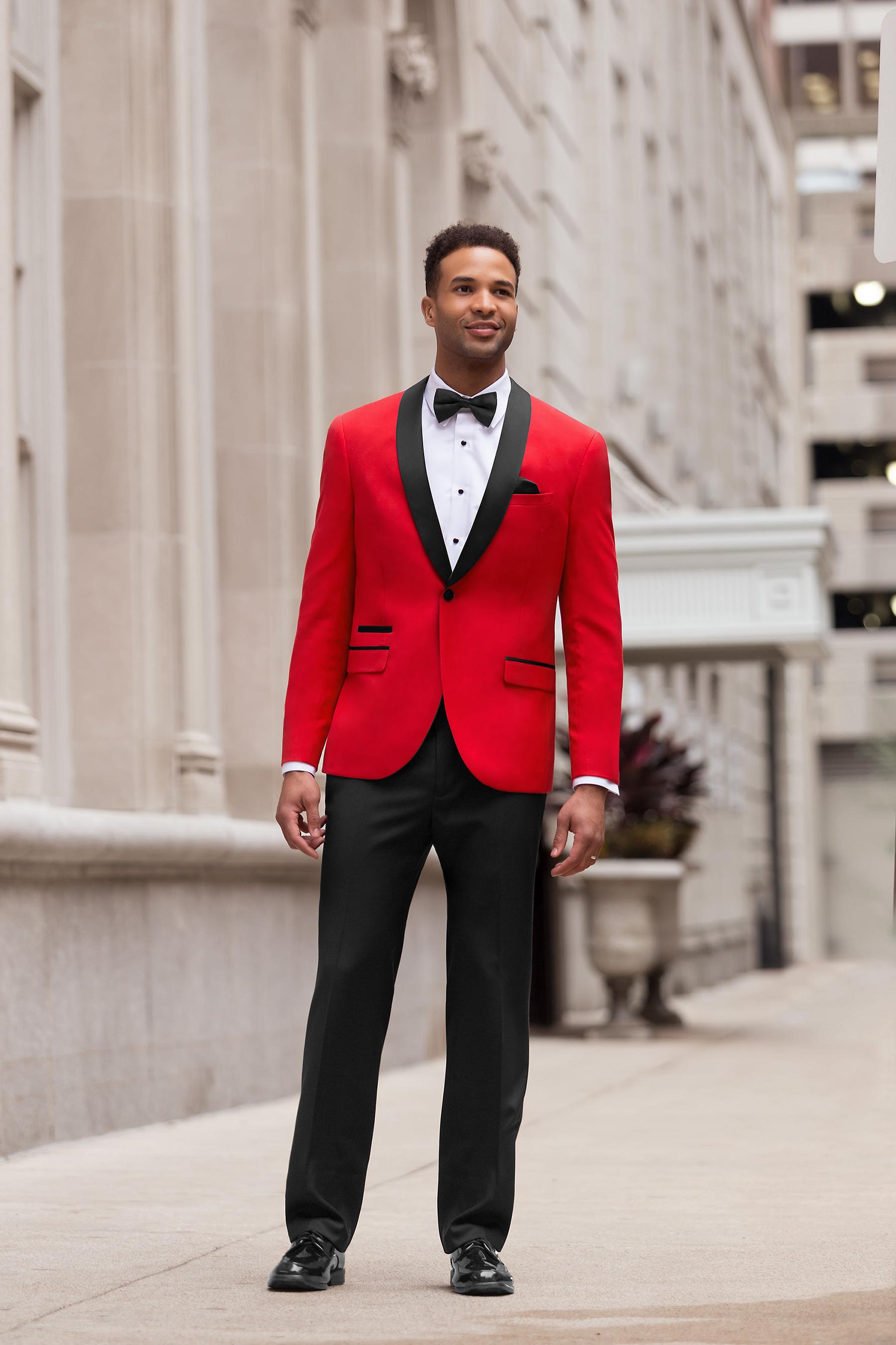 Cherry Red Shawl Tuxedo