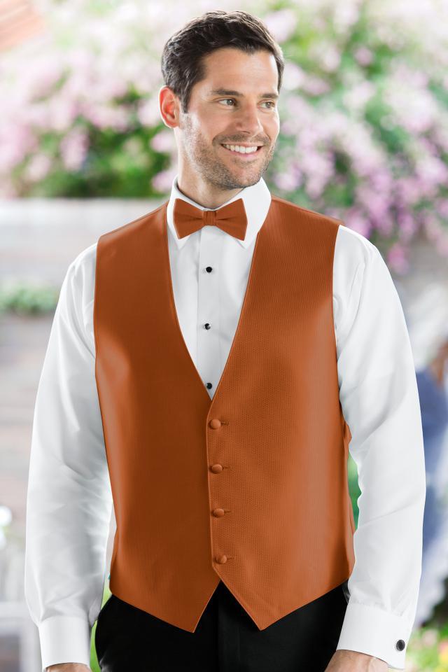 Herringbone Burnt Orange Vest