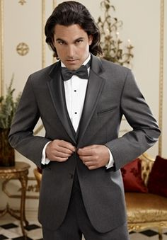 Sharkskin Grey Grayson Tuxedo by Ike Behar
