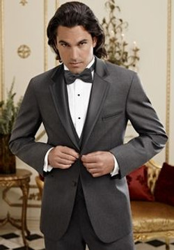 Sharkskin Grey Grayson Tuxedo by Ike Behar