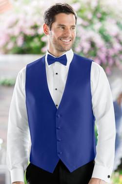 Herringbone Royal Blue Vest
