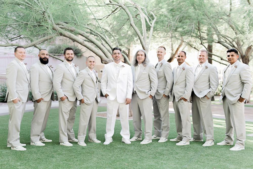 Best Wedding Suit Groom Phoenix Tempe Mesa Scottsdale Glendale Groomsmen Rentals  and Retail Sales