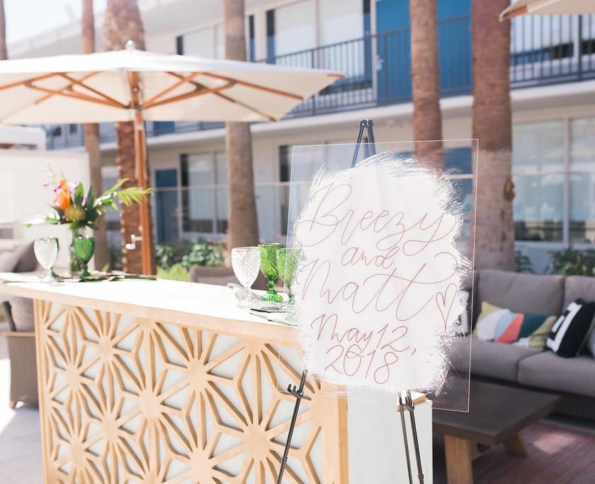Custom Bar Area   Wedding Signage   Inspiration   Destination Wedding