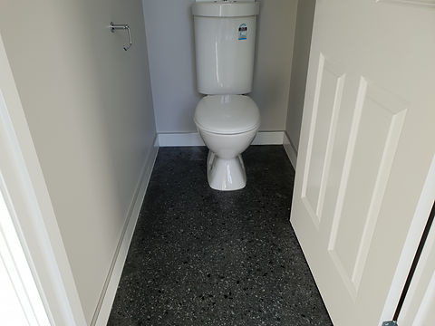 GALAXY Concrete Polishing & Grinding - Gloss Polished Concrete Powder Room