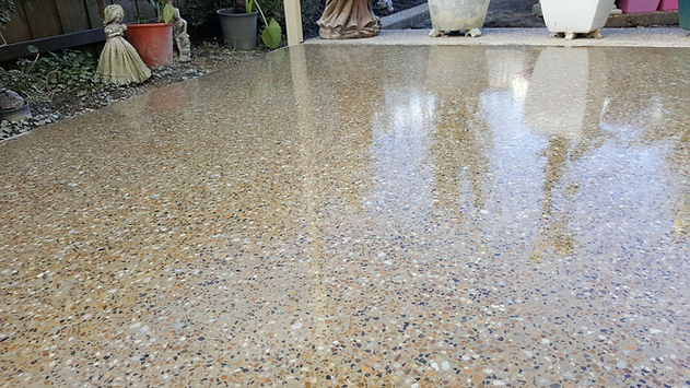 GALAXY Polished concrete - covered external