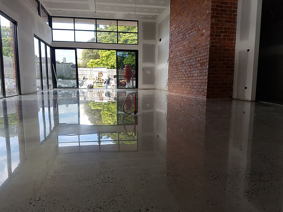 GALAXY Concrete Polishing - Polished concrete floor residential