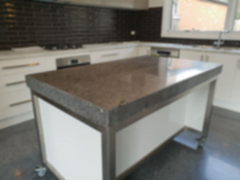 GALAXY Concrete Polishing & Grinding - Gloss Polished Concrete Benchtop