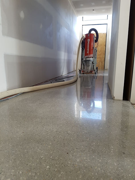 Polished Concrete Semi Gloss - Galaxy Concrete Polishing