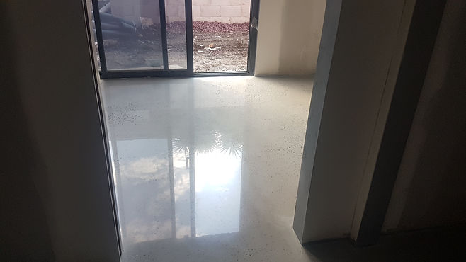 GALAXY Concrete Polishing & Grinding - Polished Concrete High Gloss Finish Random Exposure