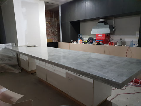 GALAXY Concrete Polishing & Grinding - Matte Polished Concrete Benchtop