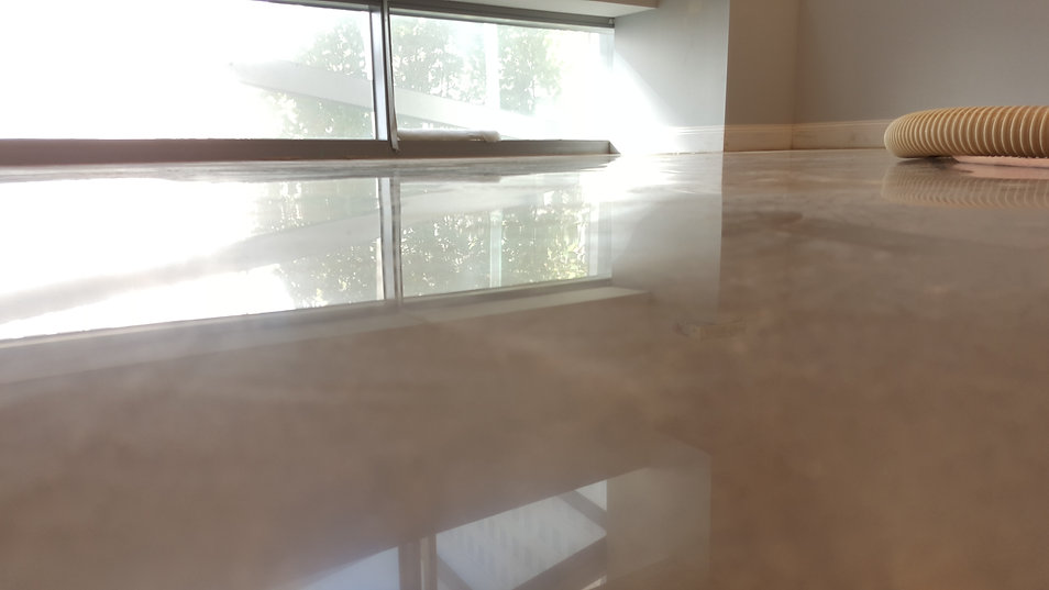 GALAXY Polished concrete - Gloss finish NIL Exposure