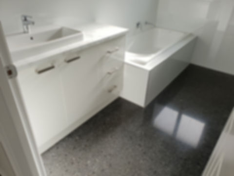 GALAXY Concrete Polishing & Grinding - Gloss Polished Concrete Bathroom