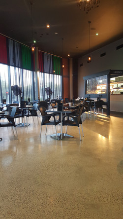 Galaxy - Polished Concrete  Matt Satin finish Depetros Restuarant Sunbury 443