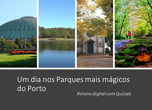 """""""Os Parques Mágicos do Porto"""" Roteiro digital com Quizzes"""