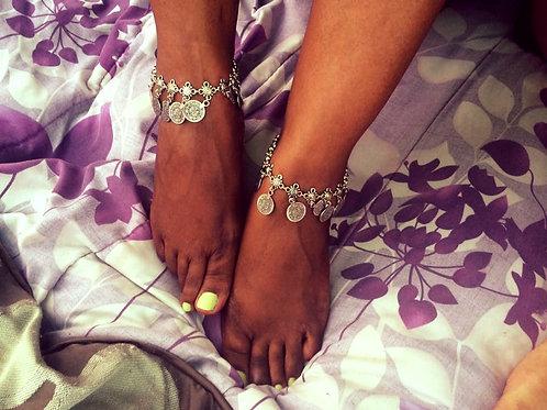 Boho Goddess Coin Anklets